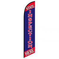 State Inspection Here feather flag