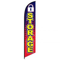 Storage feather banner flag