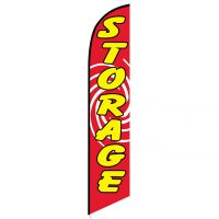 Storage feather flag