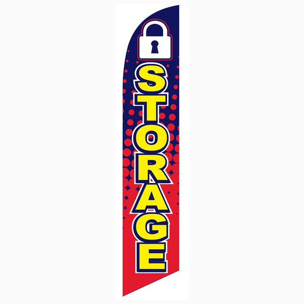High quality outdoor advertising Storage feather banner flag