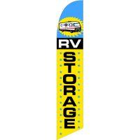 Storage RV Feather Flag Kit with Ground Stake