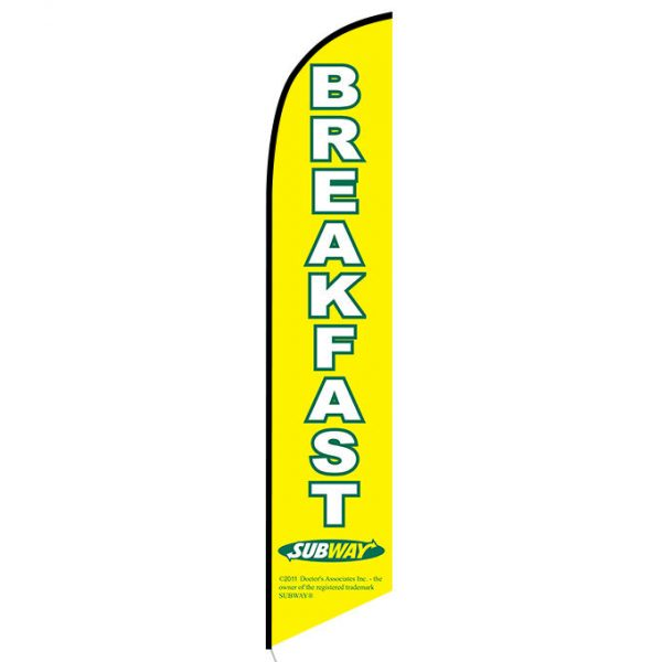 Subway Breakfast banner flag