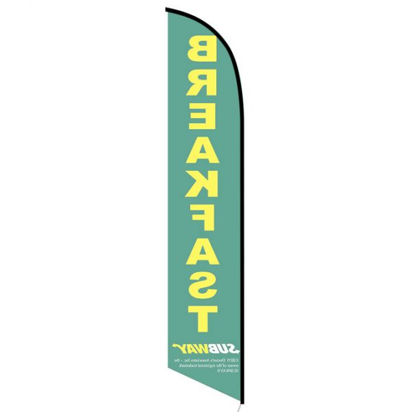 Subway Breakfast feather flag