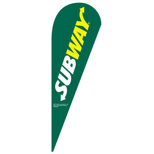 Subway Green Teardrop Flag