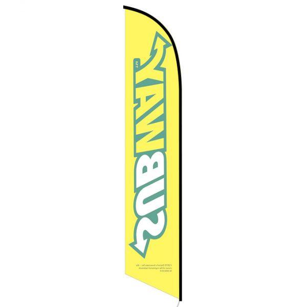 Subway yellow feather flag