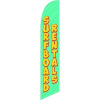 Surfboard Rentals 3 Feather Flag Kit with Ground Stake