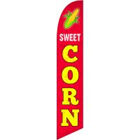 Sweet Corn Feather Flag Kit with Ground Stake