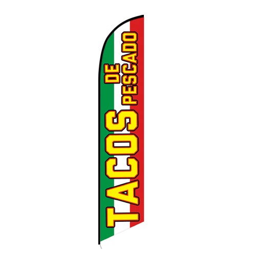 Tacos de Pescado Mexican Food Feather Flag FFN-5797