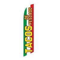 Tacos de Pescado Feather Flag