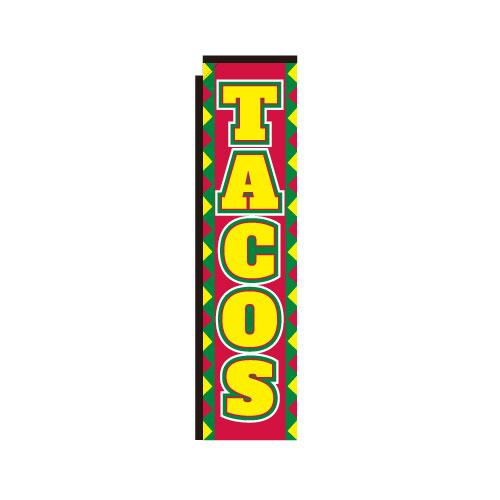 tacos rectangle banner flag