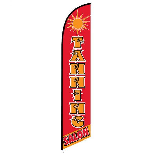 Tanning Salon feather flag