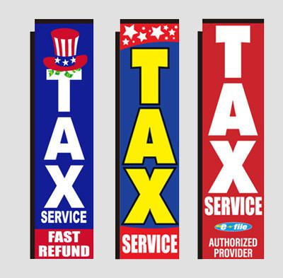 Tax Rectangle Banner Flags