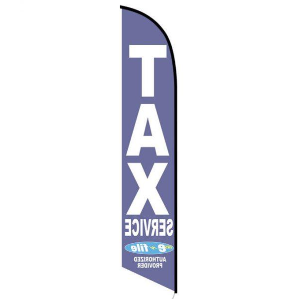 Tax Service Advertising Flag Blue E-file
