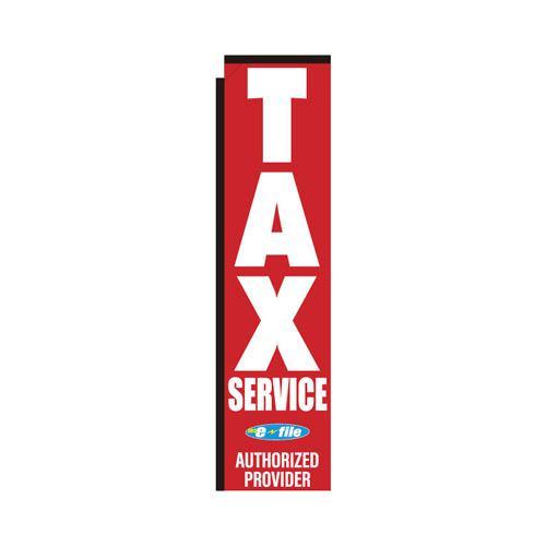 Tax Service E file rectangle flag