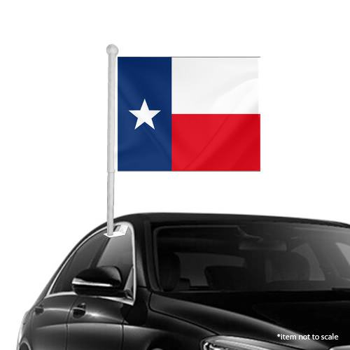 Texas State Window Clip On Flag