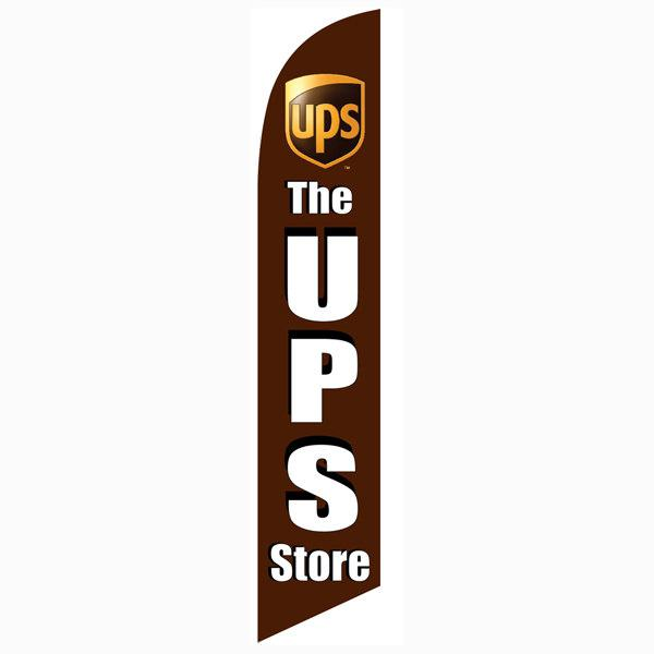 The UPS Store feather flag for all authorized UPS ship centers to get noticed