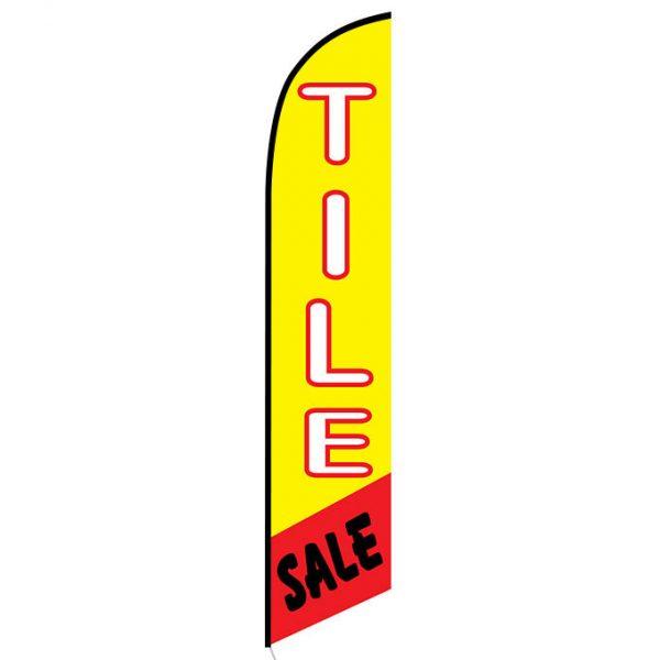 Tile Sale feather flag