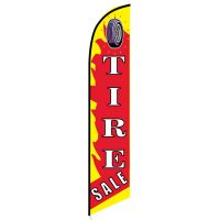 Tire Sale feather flag