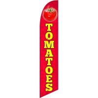 Tomatoes Feather Flag Kit with Ground Stake