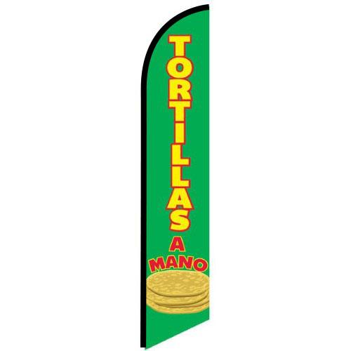 Tortillas A Mano feather flag