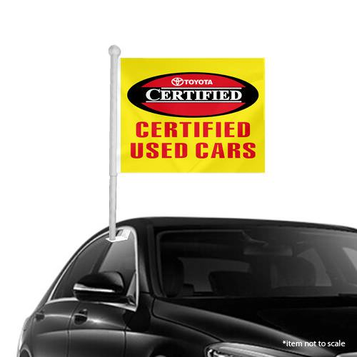 Toyota CPO Window Clip on Flags