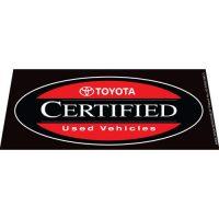 Toyota CPO Black windshield banner