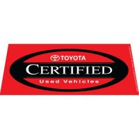 Toyota CPO Red windshield banner