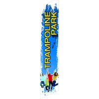 Trampoline Park Blue Feather Flag Kit with Ground Stake