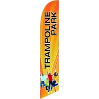 Trampoline Park Feather Flag Kit with Ground Stake
