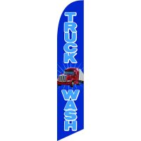 Truck Wash Feather Flag Kit with Ground Stake