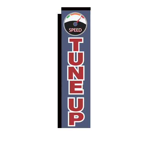 Tune up Rectangle Advertising Flag