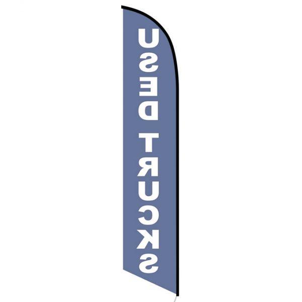 Used Trucks blue feather flag