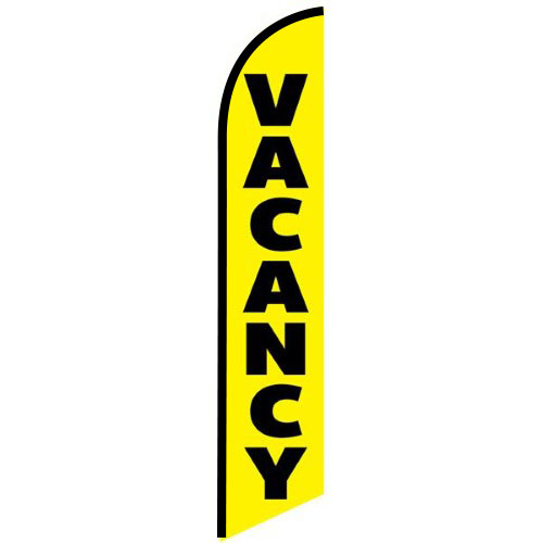 Vacancy Feather Banner Flag