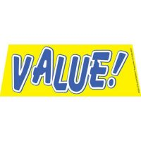 Value Yellow windshield banner
