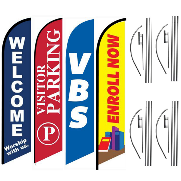 WELCOME-WORSHIP-VISTOR-PARKING-VBS-BIBLE-SCHOOL-ENROLL-NOW-GREAT-FOR-CHURCHES-FEATHER-FLAG-DEAL