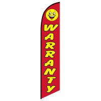 Warranty Smiley feather flag