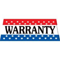 Warranty windshield banner