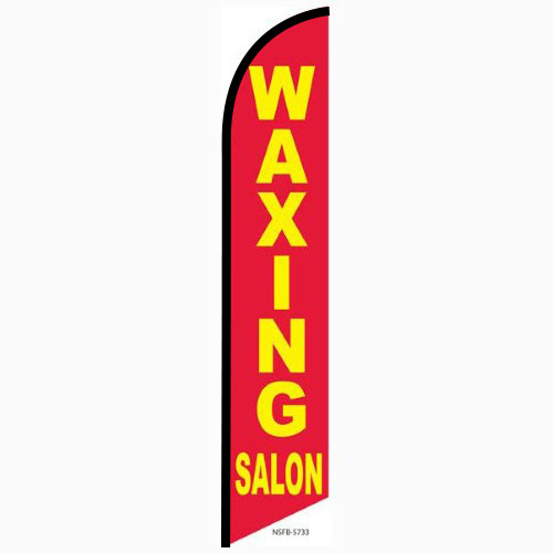 Waxing Salon feather flag