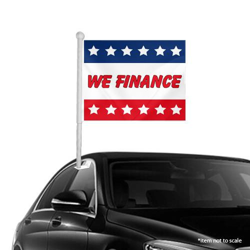We Finance Window Clip on Flags