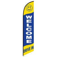 Welcome drive-in feather flag