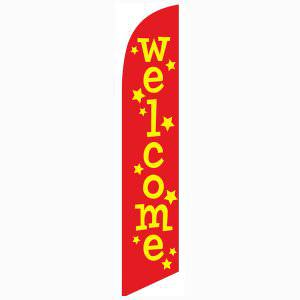 Welcome stars feather flag Swooper Banner for Greeting Guests