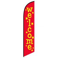 Welcome stars feather flag
