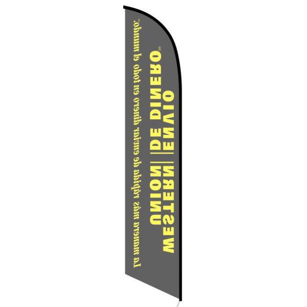 Western Union Envio de Dinero feather flag FFN-6020B back