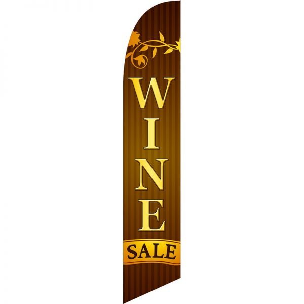 Wine Sale Feather Flag