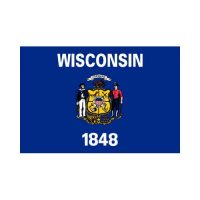 Wisconsin State 3×5 flag