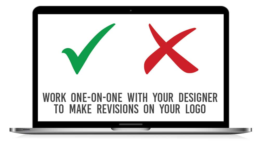 work with your designer and receive up to 5 free revisions