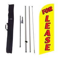 For Lease yellow Flag Kit w/ Ground Stake and Travel Bag