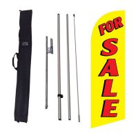 For Sale yellow Flag Kit w/ Ground Stake and Travel Bag