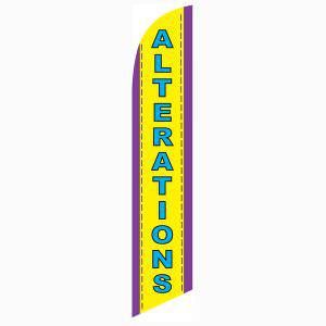 Alterations feather flag to use as your outdoor advertising banner