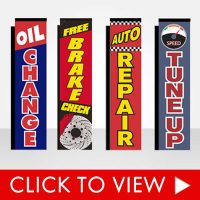 Auto Repair Advertising Flags